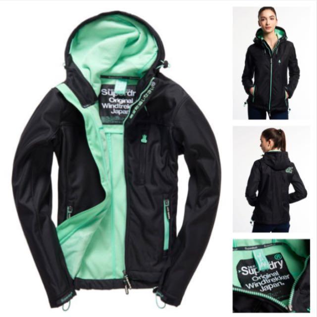 Superdry 極度乾燥 防風立領外套(綠)