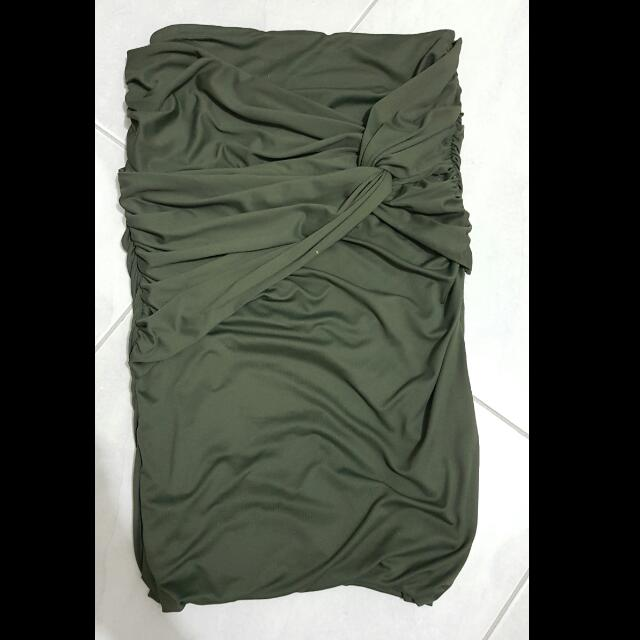 Supre green twisted skirt - size XS
