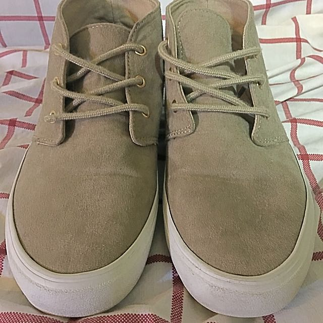 Tan Suede High Top Runners