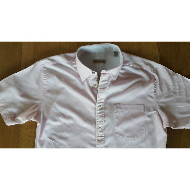 429ba9f7d9bdd2 Ted Baker - Pink/White Pinstrip Men's Short Sleeve Shirt (Size 5 or L),  Men's Fashion, Clothes on Carousell