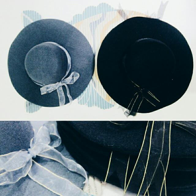 #ngakakbareng Topi Floppy Hat Topi Pantai Hitam Abu Black Grey, Women's Fashion, Women's Clothes, Tops on Carousell