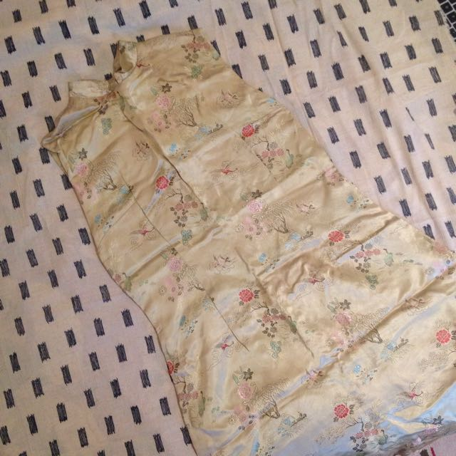 Vintage Gold Chinese Dress