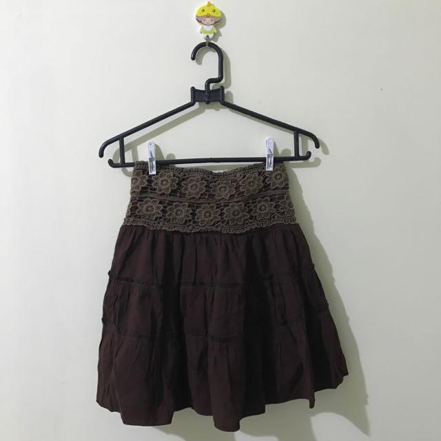 vintage brown skirt