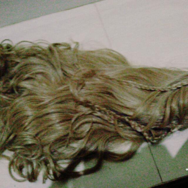 Wig Blonde, Curly