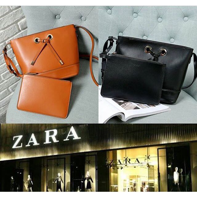 ZARA vintage slingbag with pouch