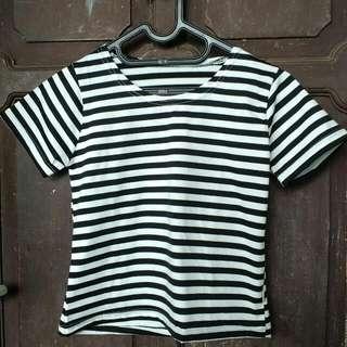 Crop Stripes Black & White