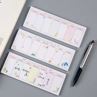 Korean Weekly Planner Sticky Memo Pad / Post-it