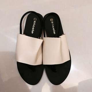 Soulsis同款裸色拖鞋涼鞋38