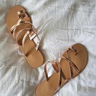 Billini rose Gold Sandals