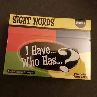I Have...Who Has...? Sight Words Grade 2 (Game Cards)