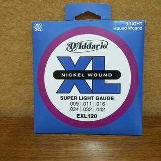 D addario 일렉트릭 기타 현  Electric Guitar Strings  Nickel wound Super light EXL120