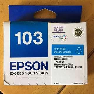 EPSON 103 超高容量墨水盒 (青色)