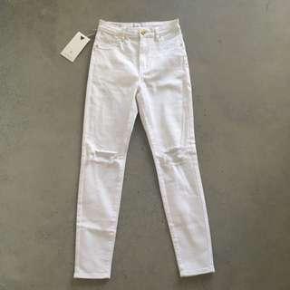 A Brand High Waist Skinny Jeans