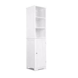 6 Tier Storage Cabinet - White