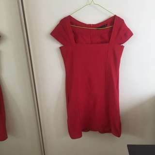 Zara Woman Red Dress Formal Or Casual Size L