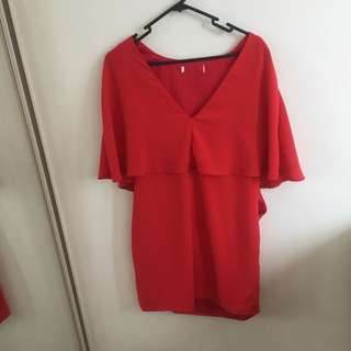 Zara Red Dress Size M/L