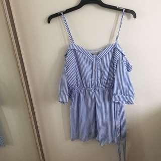 TEMT Blue Jumpsuit Size 10
