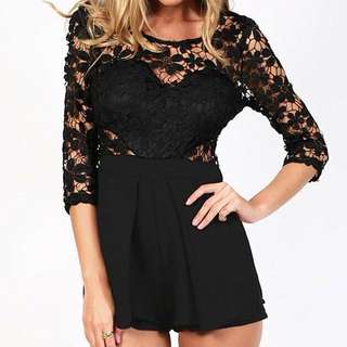 Black Playsuit Size 12