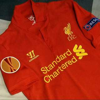 OFFICIAL AUTHENTIC LIVERPOOL HOME 12/13 JERSEY; SIZE: (YOUTH XL)