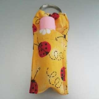 Chapstick Holder Keyring (Chapmate)- Ladybird