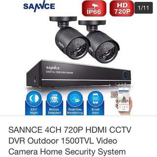 SANNCE HDMI CCTV DVR Outdoor Video Camera Home Security System