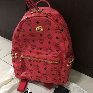 MCM Red Backpack In Small
