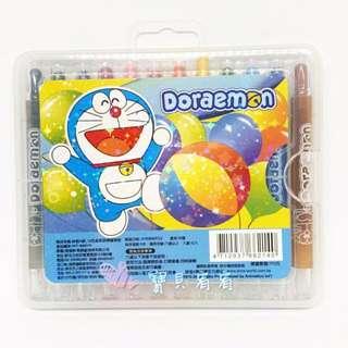 🚚 哆啦A夢12入盒裝旋轉蠟筆組