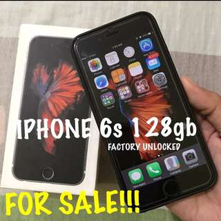 ••SOLD••   Iphone 6s 128gb Spacegray FACTORY UNLOCKED