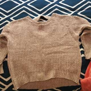 Pale Pink Knit Sweater
