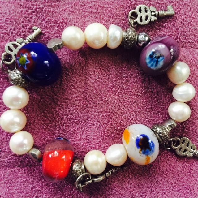 11pcs REAL white pearls Bracelet