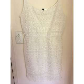 H&M white summer dress