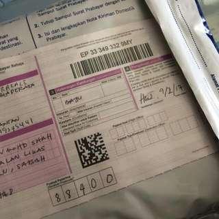 POSLAJU Utk Customer From Sabah