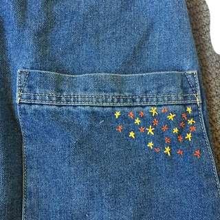 Hand Embroidered Overall Skirt