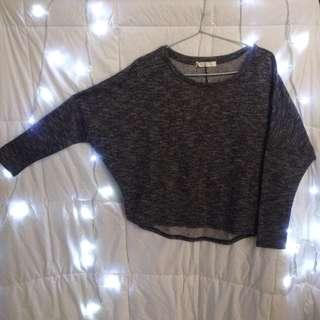 Batwing Sweater In Grey
