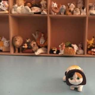 點心貓 三花貓 趣味頭套貓 扭蛋 玩具