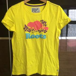 Roots 全新短袖T恤L號