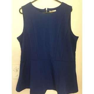 Bright Blue H&M Top Size L