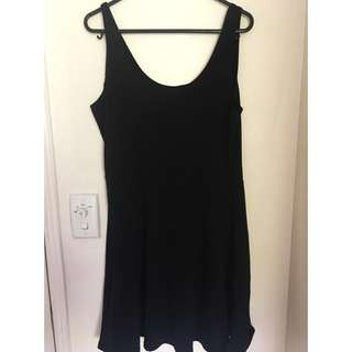 Size L Black Factorie Skater Dress