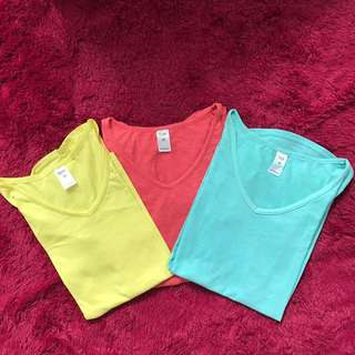 Tricolor V-neck T-shirt by NOW