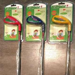 3~5歲孩童學習用塑膠高爾夫球桿