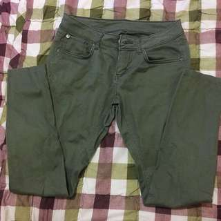 Green Lee Skinny Pants