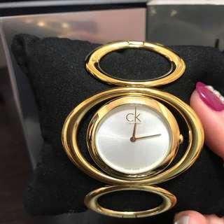 CK質感金手錶,鍊錶