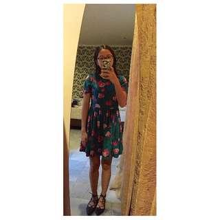 PICNIC Floral Suede Dress