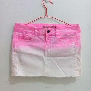 ZARA TRF ombre jeans skirt