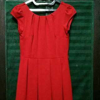 (Preloved) Red Midi Dress