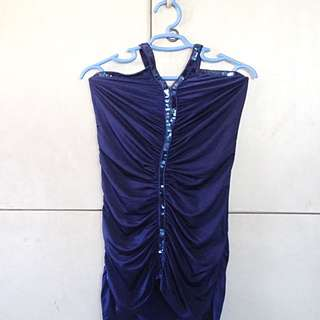 Party Silky Top Royal Blue