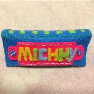 訂造手工布藝襟章扣針 Customised Handmade Fabric Pin