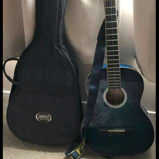 Ashton Acoustic Guitar Ocean Blue