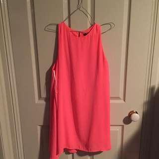 Fluro Pink Mid Dress