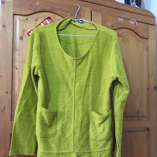 亮綠色連身洋裝M~XL